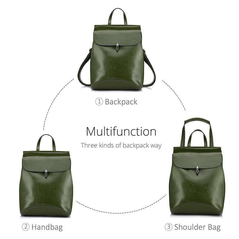 REALER рюкзак женский из высококачественной сплит-кожи, рюкзак для девочек подростков, рюкзак школьный, винтажный молодежный рюкзак на ремне