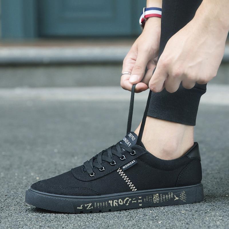 2018 лято нови платно обувки мъже - Мъжки обувки - Снимка 1