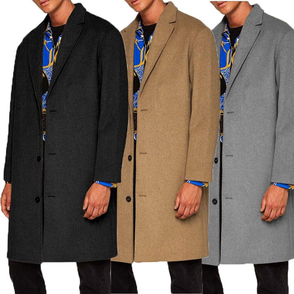 HTB1bYsPKMHqK1RjSZFEq6AGMXXav 2019 New Fashion Men's Wool Coat Winter Trench Coat Outwear Overcoat Long Sleeve Jacket Trench M-3XL