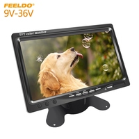 FEELDO DC9V 36V 7 Inch Color TFT LCD Rear View Monitor Headrest Stand alone Display For Auto DVD VCD Reversing Camera #AM2838
