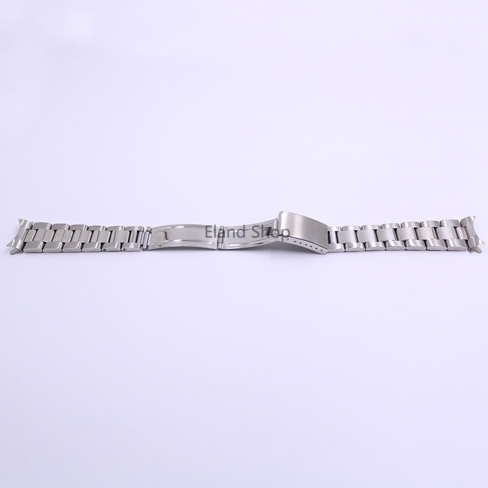CARLYWET 19 20mm Rustfrit stål Sølv Mellem polsk Hult buet ende - Tilbehør til ure - Foto 3