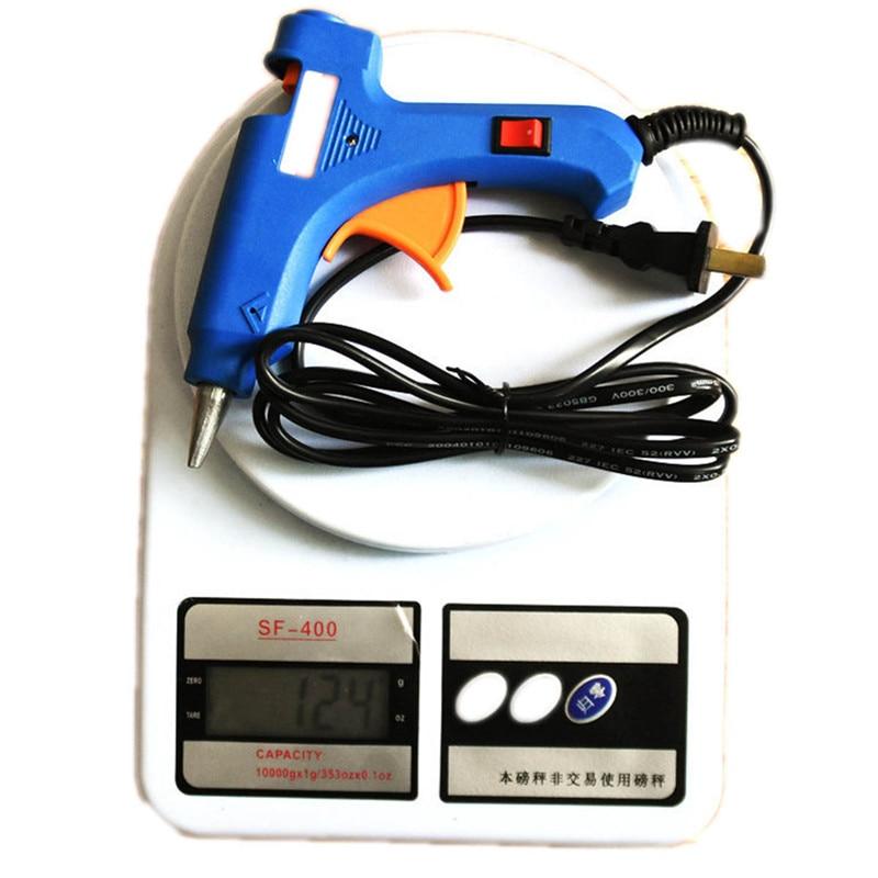 Handige Professionele Hoge Temp Heater 20 W Hot Lijmpistool Reparatie Warmte Tool Blue Mini Gun Met Eu/us /uk Plug