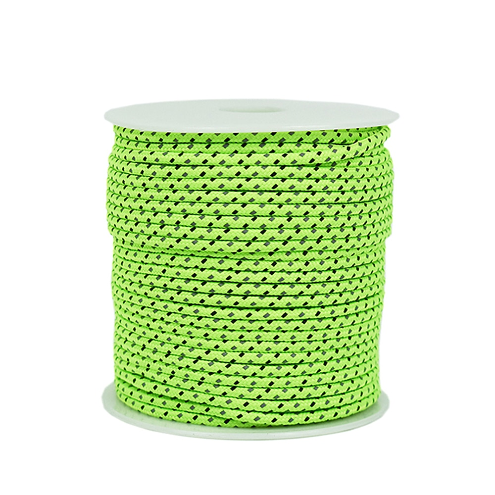 50M Reflective Rope Paracord 2.5/4MM Diameter Reflective String Windproof Tent Rope for Camping Tent Awning Outdoor Gear Lanyard|Paracord| |  - title=