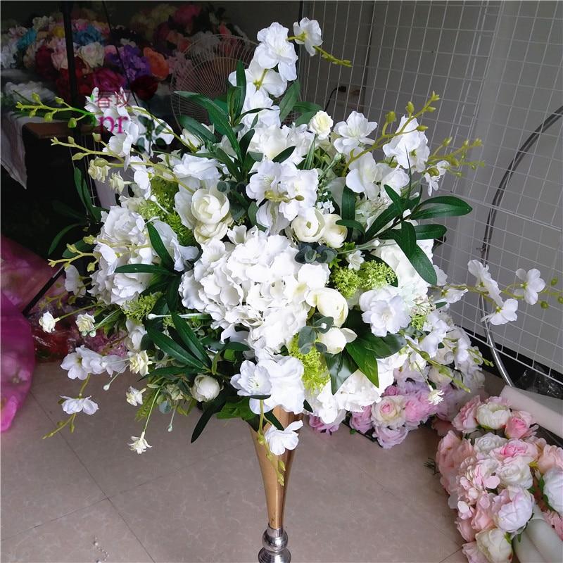 SPR wedding table flower ball centerpiece wedding road lead artificial flore  centerpiece  wedding backdrop flower decoration