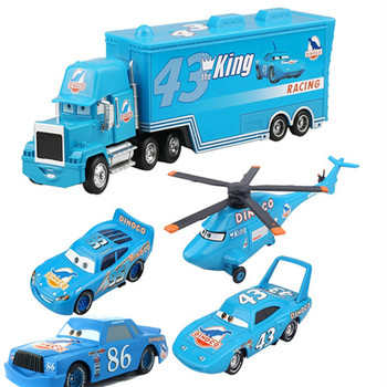 5Pcs Disney Pixar Cars 2 Lightning McQueen The King Aircraft Mack Uncle Track Toy Collection Kids Best Gift недорого