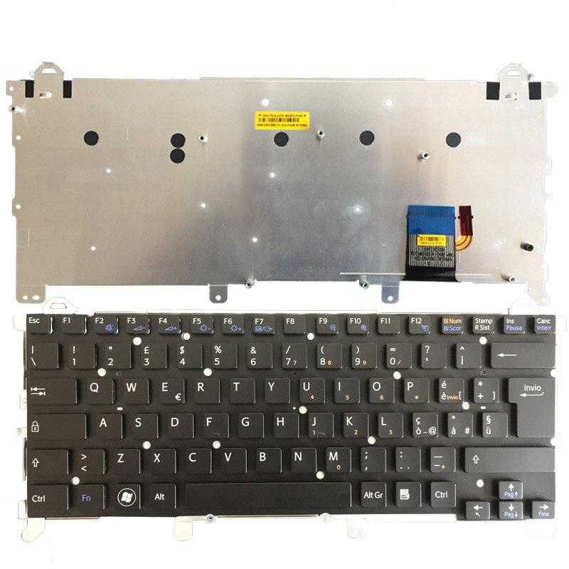 Nouveau clavier de remplacement de clavier d'ordinateur portable italien pour Sony vpc z1 vpcz1 PCG-31113T 31112 T 31111 T avec rétro-éclairé