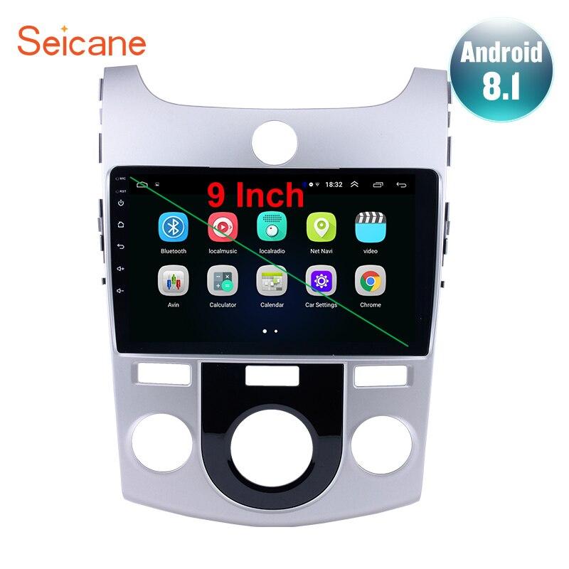 Seicane android 8.1 2din rádio do carro gps para 2008 2009 2010 2011 2012 kia forte mt suporte 1080 p dab + dvr wifi-OBD2 câmera tpms 3g