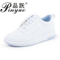 2018 Hidden Heels White Platform Wedges Sneakers Women Shoes High Top PU Leather Tenis Feminino Casual