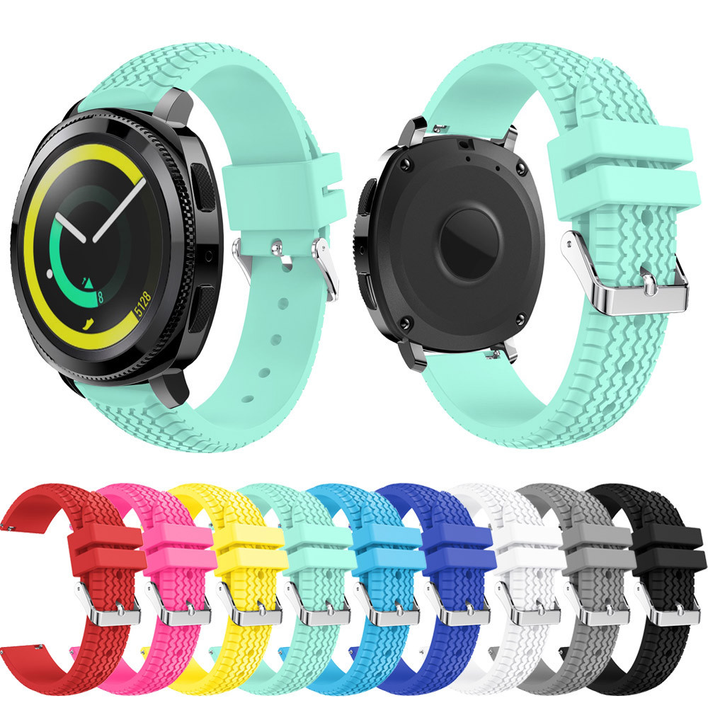 New Watch Band Wrist Strap Sport Soft Silicone Wristband Adjustable Replacement For Samsung Gear Sport BTTF large small size sport silicone replacement watch wrist strap bands for samsung gear fit 2 r360 watch band conjoined watch band