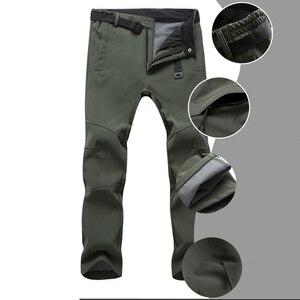 Image 5 - Mountainskin New Mens Winter Softshell Fleece Pants Outdoor Waterproof Hiking Camping Trekking Skiing Male Sport Trousers MA152