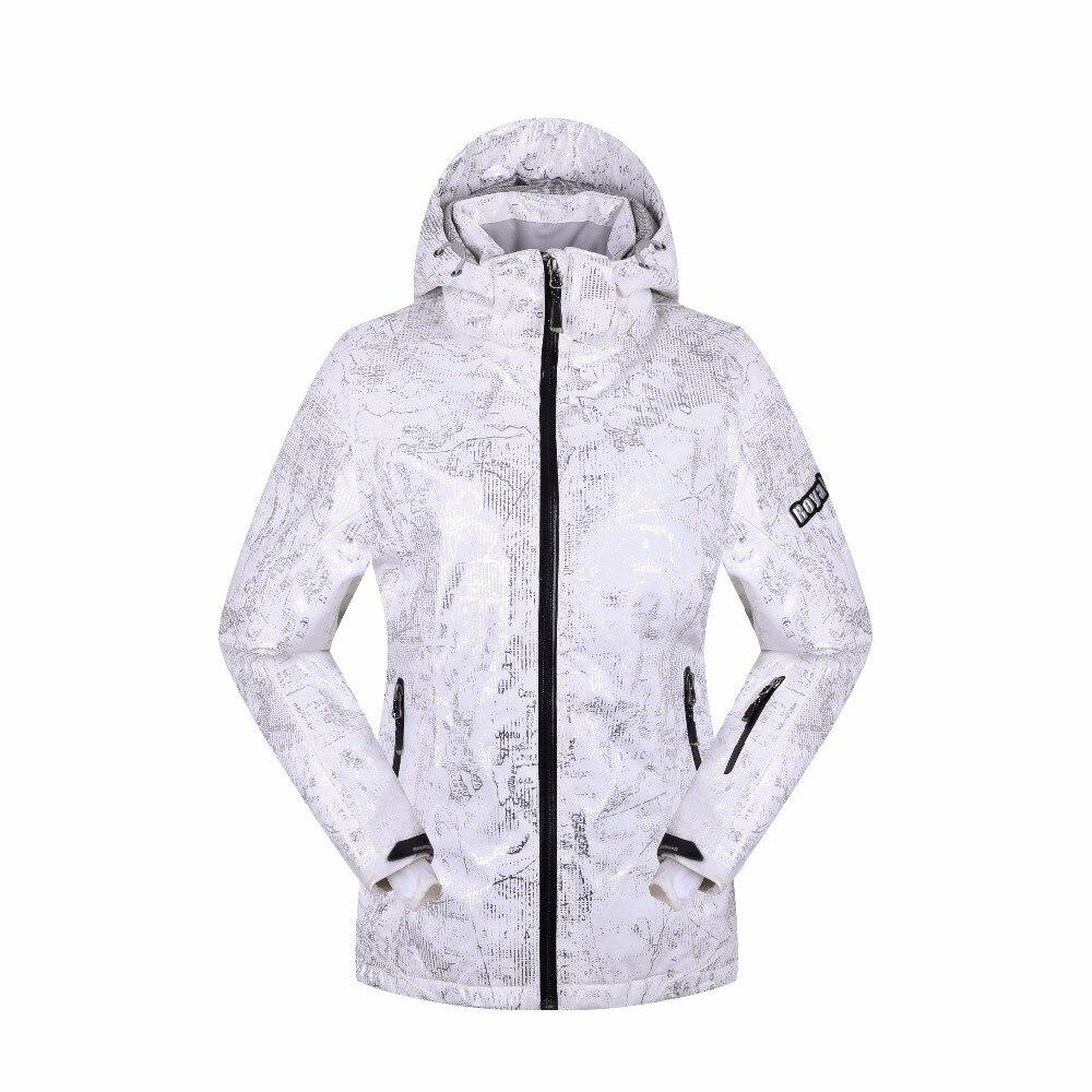 ROYALWAY femmes veste de Ski imperméable sécurité coupe-vent Snowboard manteau capuche réglable Super chaud veste # RFSL4498G