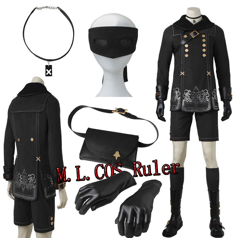 NieR:Automata YoRHa No.9 Type S Cosplay Costume Custom Made Full Suit Jacket Shorts Gloves Boots For Halloween Free Shipping