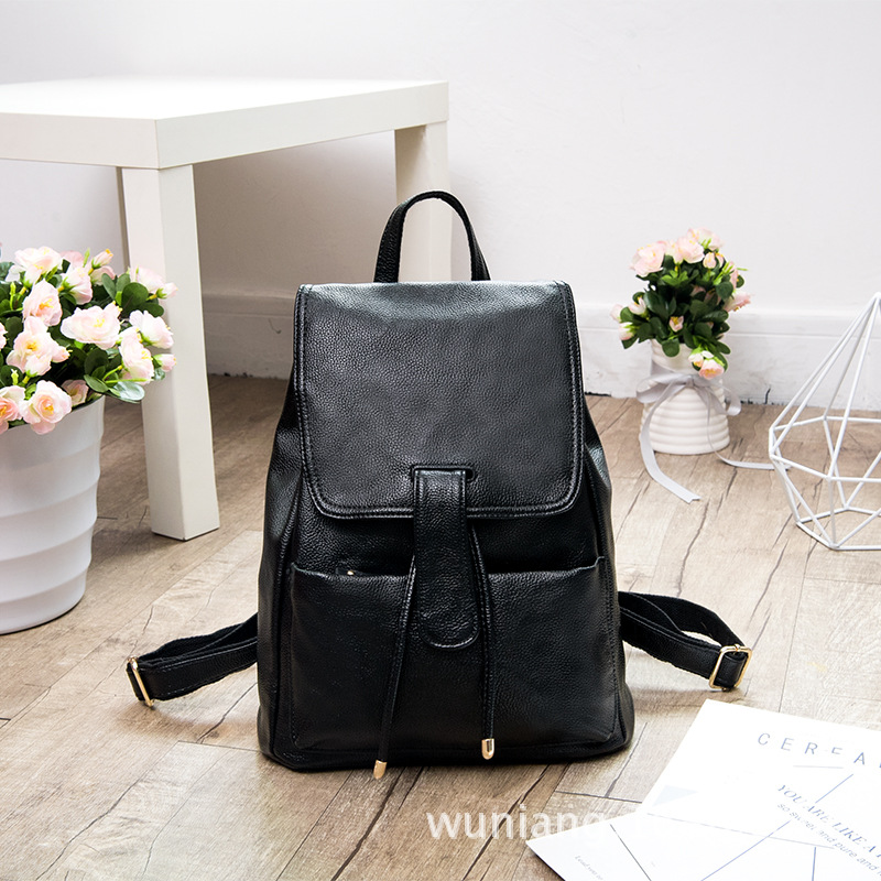 2017 backpack women genuine leather soft cow leather woman back pack casual backpack mochila couro mulheres mochila three colors мужской ремень cinto couro marca