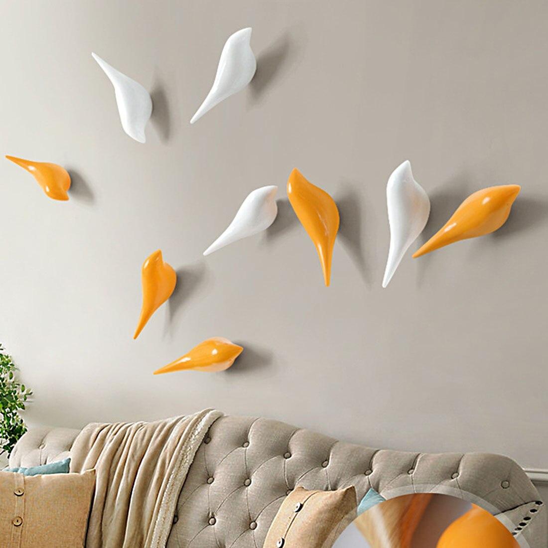Creatieve Vogel Vorm Muur Haken Home Decoratie Hars Houtnerf Opbergrek Slaapkamer Deur Na Coat Hat Hanger 3d Jas Houder