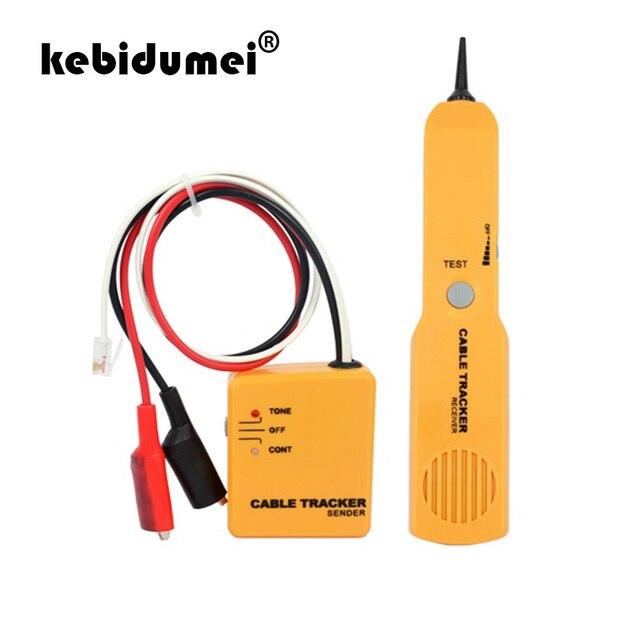 Kebidumei 高品質ハンドヘルド電話ケーブルトラッカー電話線検出器 RJ11 ラインテスターポータブルツールキットトレーサー受信機