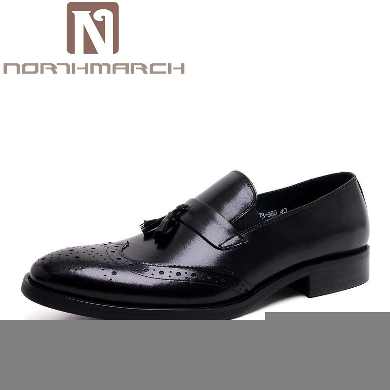 NORTHMARCH Men Shoes Luxury Brand Loafers Italian Style Pointed Toe Leather Footwear Men's Casual Lace Up Oxford Shoe For Men leisure footwear new 2016 suede european style leather buckle shoes mens luxury brand pointed toe italian dress shoes for men