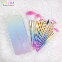 New Arrival 10PCS Makeup Brush Set Fantasy Set Professional High Quality Foundation Powder Eyeshadow Kits Gradient