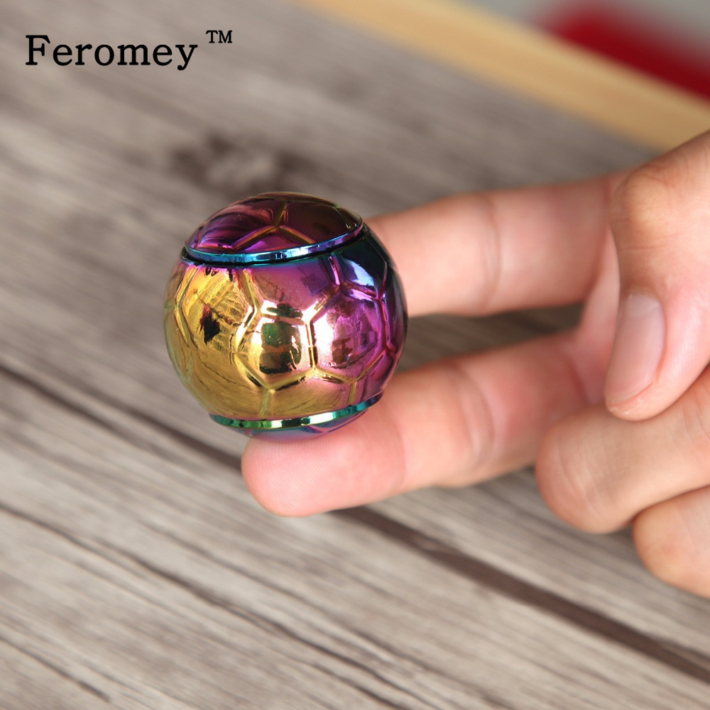 Football Fingertips Gyro Ball Hand Spinner Fidget Fingertip Spinner Edc Gyros Autism And Adhd Stress Relieve Toys For Adult football pattern fidget spinner edc finger toys hand spinner abs tri spinner anti stress autism adhd toy kids gift