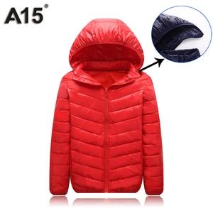 Image 4 - A15 Çocuk Giyim sıcak tutan kaban 2019 Kız Ceket Bahar Sonbahar Kış Kapüşonlu Yürümeye Başlayan Genç Ceketler Erkek Yaş 10 12 14 16 Y