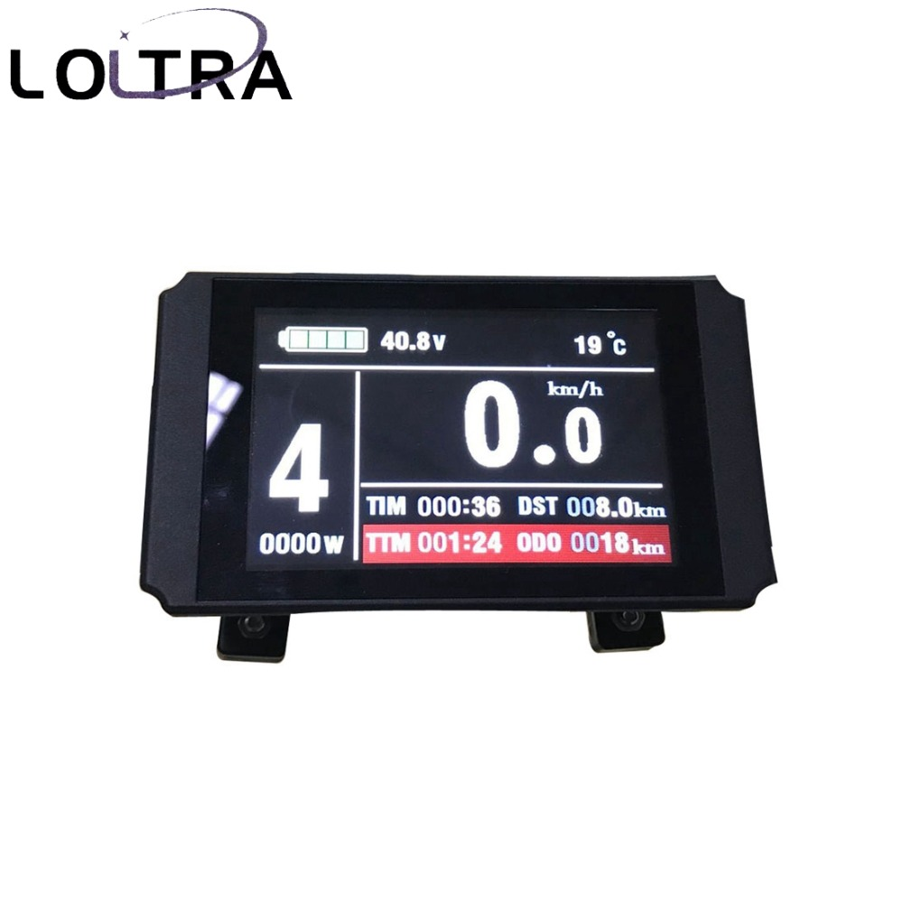E bike Display 24V 36V 48V KT LCD8H Colorful electric bicycle Display with Speed Limit Anti