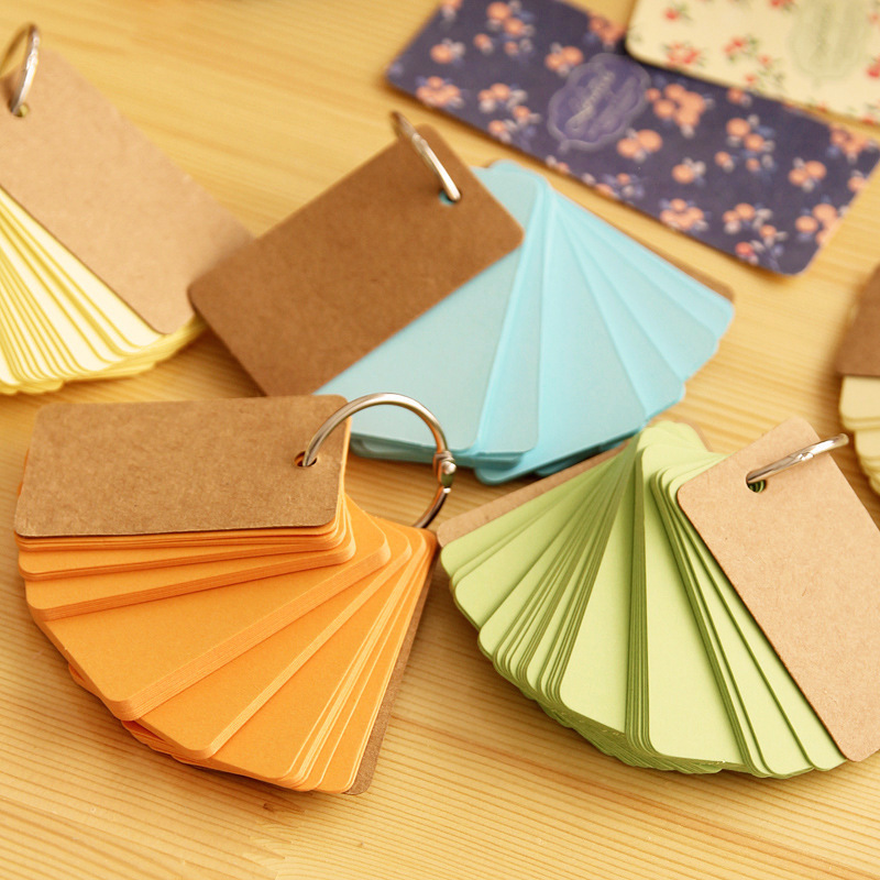 90Pcs/Pack Candy Color Kraft Ring Memo Pad N Times Sticky Notes School Supply Bookmark Post it Label E0361