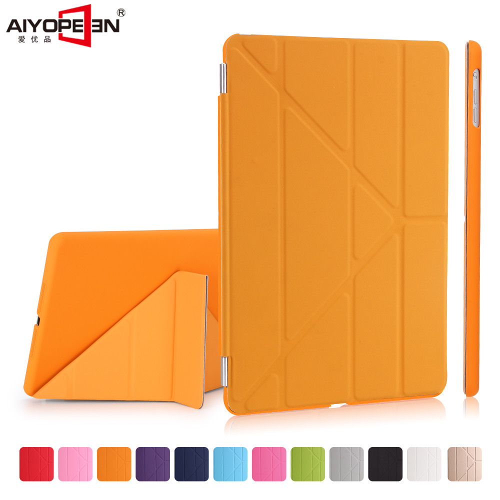 for new ipad 9.7 2017 case,aiypeen 11-fold pu leather smart wake up sleep with solid pc back cover magnetic flip stand for ipad air2 case pu leather smart wake up sleep solid pc back cover magnetic flip stand origimi brand aiyopeen with gift