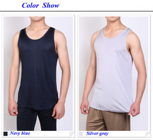 100% natural silk knitted male tops,double-faced knitted pure silk men tank top,100% silk basic vest,silk underwear men