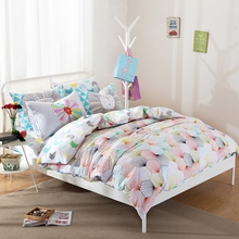 MEILUO Spring And Summer Rural Floral 7 Colour SpaceCartoon Cotton Covered Four-Piece Suit