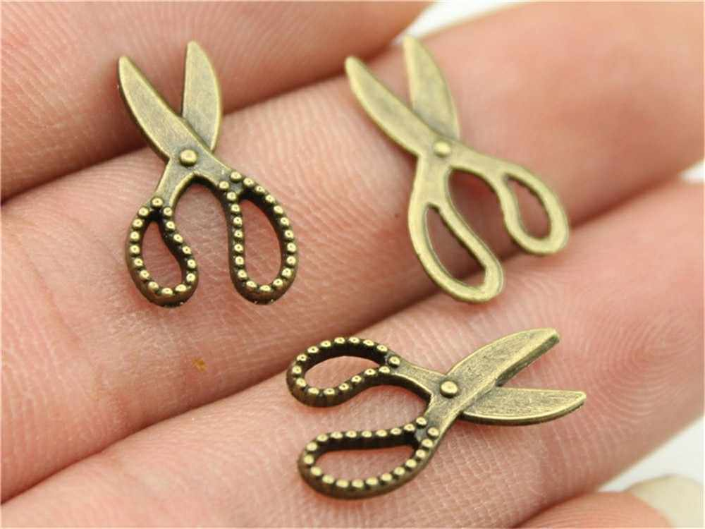 15pcs Antieke Bronzen Gereedschap Charm Hangers Voor Sieraden Maken Mes Bijl Schaar Charms Sieraden Accessoires