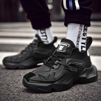 ACEBUY 2019 nowych mężczyzna buty w stylu casual trampki zwiększona grube podeszwie sport rozrywka Zapatos Hombre buty sportowe tanie i dobre opinie AECBUY Gumowe Oddychająca Wysokość zwiększenie Masaż Pot-chłonnym Wytrzymałe Antyzapachowej Lace-up 9007 Wiosna jesień
