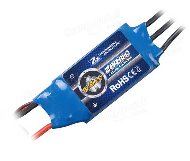 ZTW Beatles Serie 20A ESC BEC Brushless Speed Controller Voor RC Vliegtuig