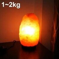 Himalayan Natural Air Purifier Salt Rock Crystal Night Light Lamp 2 4 Lbs Corridor Bedroom Bedside Lamp