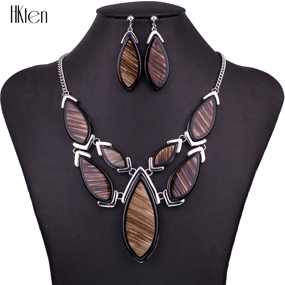 MS1504505 Fashion Jewelry Sets High Quality 3 Colors Necklace Sets For Women Jewelry Resin Unique Geometric