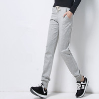 2017 Summer Pencil Pants New Fashion Casual Pants Female 5 Colors Patchwork Slim Skinny Harem Pants