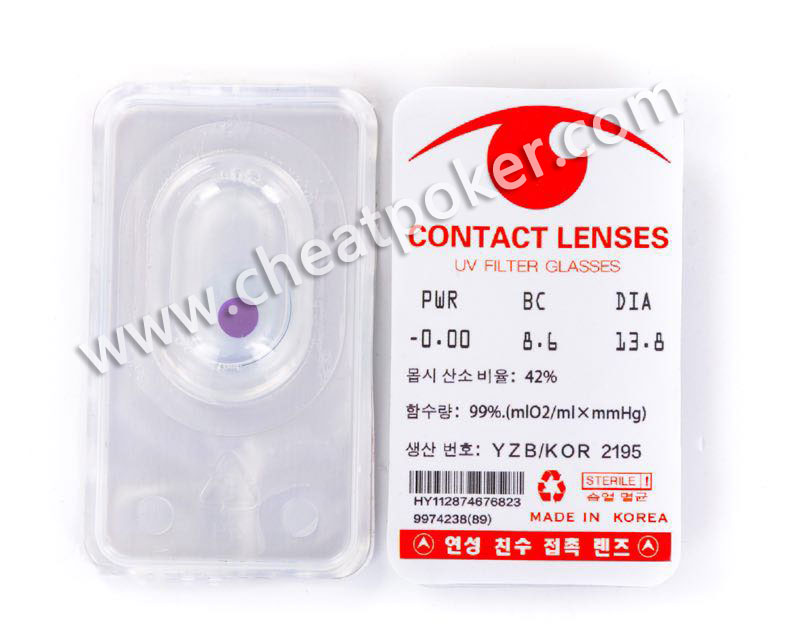 New Contact Lenses See Invisible Luminous Ink Marks Anti Cheat In Poker Cards Games Perspective Playing Cards Lenses