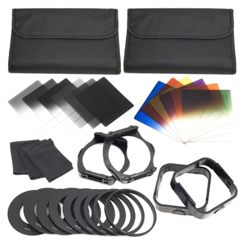 1 Set Filters + Ring Adapter FOR Cokin P Series LF142, 6pcs ND Filters + 6pcs Gradual Color Filter + 9pcs Ring Adapter