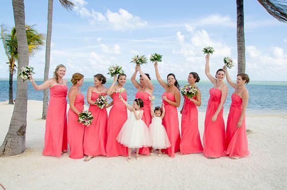 Popular Beach Bridesmaid Dresses Coral-Buy Cheap Beach Bridesmaid ...
