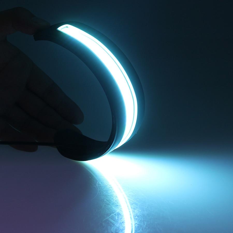 GEETANS 2db LED nappali menetjelző lámpa hajlítható LED-ek DRL - Autó világítás - Fénykép 2