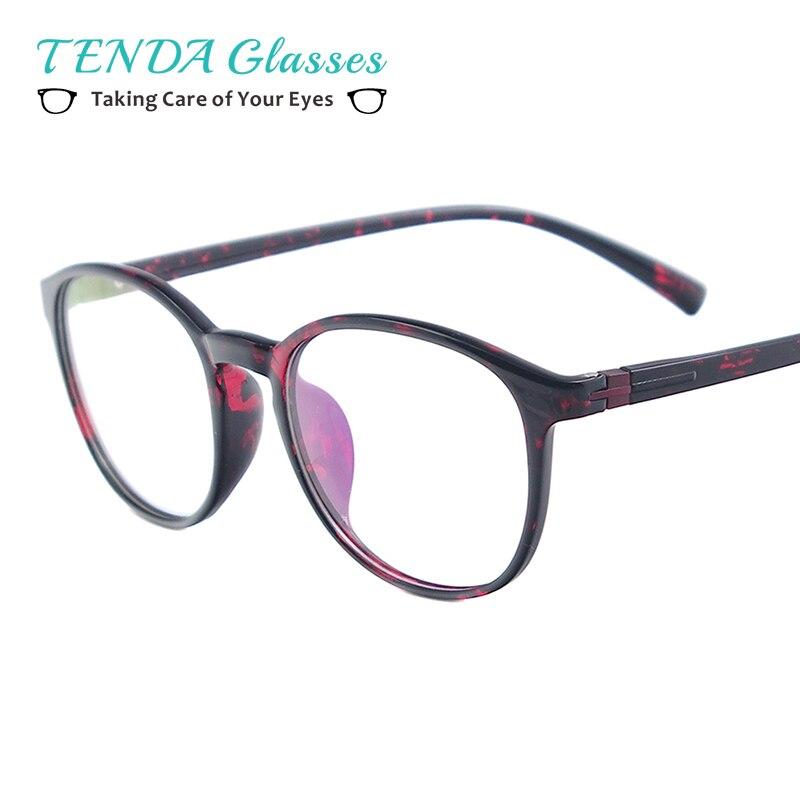 TR90 pequeño Full Rim gafas marco mujeres ronda Vintage anteojos ...