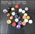 nature stone cabochon fashion jewelry diy beads charms beads accessories size 8mm 10mm mix different types of stone