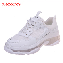 New Fashion White Sneakers Women Casual Shoes Dad Chunky 2019 Yellow Trainers Platform Basket chaussures Femme