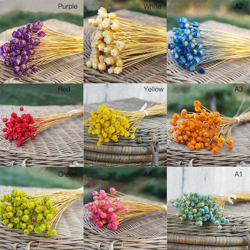 50 unids / lote decoración para el hogar ramo de flores secas flores - Para fiestas y celebraciones - foto 2
