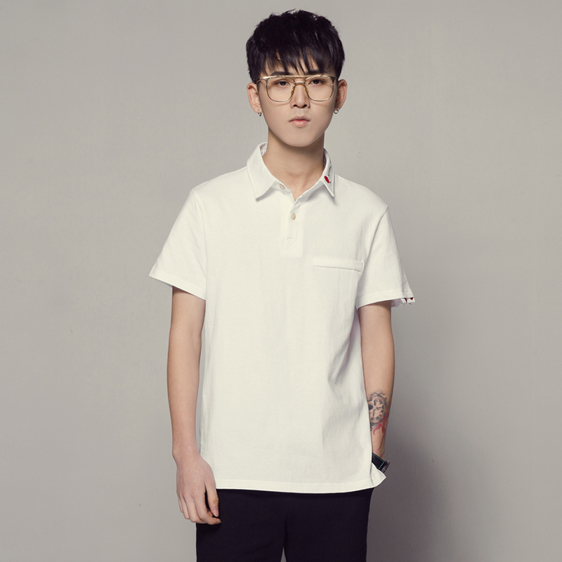 2018 poloshirt men summer new polo homme polos men original trend 5XL plus  size polo shirt white clothes 2d6bc0a02907