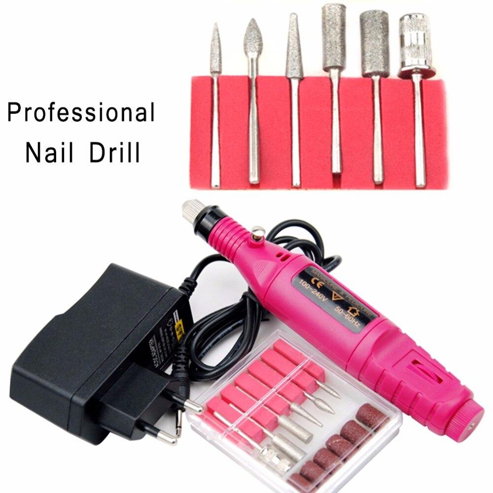 Profesional eléctrica uñas brocas conjunto de molino de la máquina de corte para manicura de uñas de manicura pedicura Archivo de uñas
