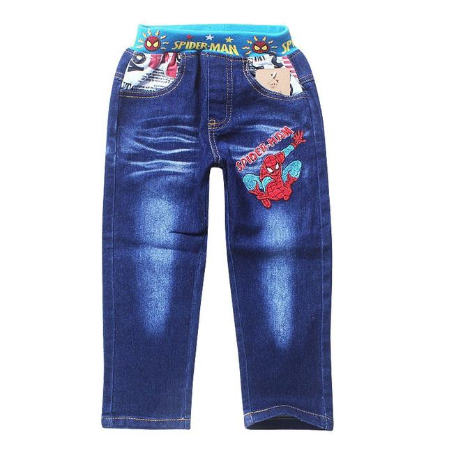 2017 Boys Jeans for boys 2-8Yrs Children Spiderman Denim Pants for Kids Clothing Spring Autumn Boy Casual Trousers high quality high quality brand clothing casual trousers drawstring denim green cargo pants regular fit pockets full jeans pants 28 38 a320