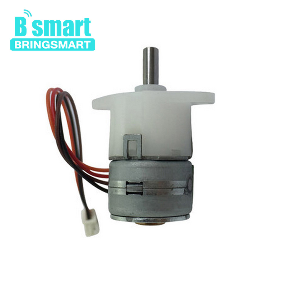 Bringsmart GM12-15BY DC Motor Reduction Ratio 1: 50 Geared Stepper DC Mini Stepping Motor Gearbox for Printer Intelligent Motor nema23 geared stepping motor ratio 50 1 planetary gear stepper motor l76mm 3a 1 8nm 4leads for cnc router