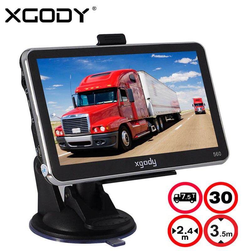 Prix pour XGODY 5 Pouce De Voiture Camion GPS Navigation 128 M + 8 GB MTK FM SAT NAV Navigator Navitel Russie Nord/Amérique du sud 2017 Cartes D'europe