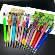 Creative Spinning Ballpoint Pen 1mm Metal Crystal Ball Point Pen Luxury Penspinning Roller Sequin Office School Pen Stationery new crystal ballpoint pen roller ball pen instead of fountain pen pencil box and bag brand gift stationery office school