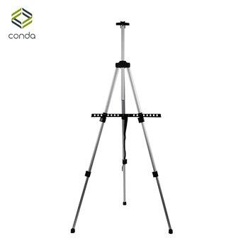 Aluminium CONDA-Tall Składany Lekki Regulowany Sztalugi Sztalugi dla Malarstwo Rysunek Artystyczne Składane Easel-155cm & carry Bag