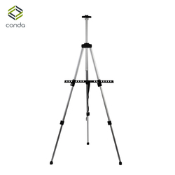 Aluminum Easels CONDA-Tall Collapsible Light Weight Adjustable Easel for Painting Drawing Artistic Folding Easel-155cm&carry Bag